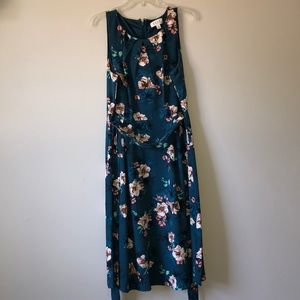 blue and pink floral dress NEVER WORN!!!